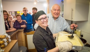 Chef Penny and Colin Smith at the Cross Cafe